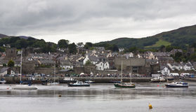 Conwy, Wales. A view of the town of Conwy in Wales Royalty Free Stock Photos