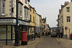 CONWY/WALES - April 20, 2014: Typical street scene in idyllic to Royalty Free Stock Image