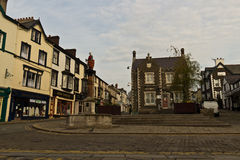 CONWY/WALES - April 20, 2014: Typical street scene in idyllic Royalty Free Stock Image