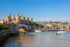 Conwykasteel in Wales, het Verenigd Koninkrijk, reeks Walesh-kastelen stock afbeeldingen