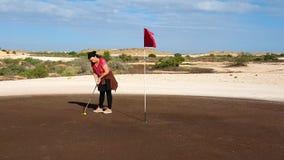 Coober Pedy Golf Course - poniendo Imagen de archivo libre de regalías