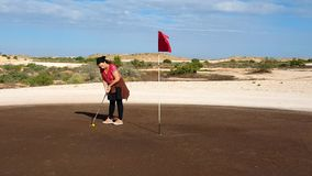 Coober Pedy Golf Course - Putting Royalty Free Stock Image