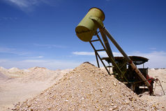 Coober Pedy mining Royalty Free Stock Photo