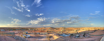 Coober Pedy Mining Town. The sun sets over the opal mining town of Coober Pedy in South Australia's outback royalty free stock images