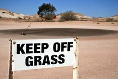 Coober Pedy Opal Fields Golf Course no Sul da Austrália imagem de stock royalty free
