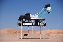 Coober Pedy Opal-Gebläse Stockbilder