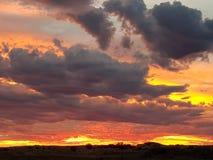 Coober pedy słońce ustalony południowy Australia Obraz Stock