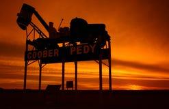 Coober Pedy - sinal do nome de lugar Imagens de Stock Royalty Free
