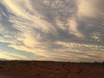 Coober pedy sun set clouds Royalty Free Stock Photography