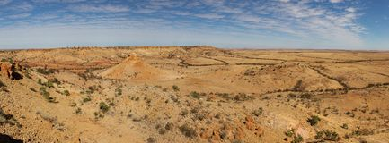 Coober pedy vista in Australia stock images