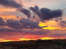 Coober pedy zon geplaatst Zuid-Australië Royalty-vrije Stock Foto