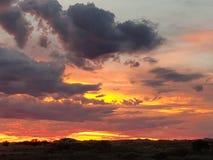 Coober pedy zon geplaatst Zuid-Australië Royalty-vrije Stock Foto's