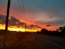 Coober pedy zon geplaatst Zuid-Australië Royalty-vrije Stock Afbeelding