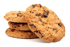 Coockie. Chocolate chip cookie isolated on white background Stock Image