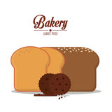 Coockie and bread of bakery design Royalty Free Stock Photos