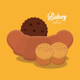 Coockie and bread of bakery design Stock Photos