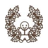 Coockie of merry Christmas design Stock Photo