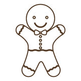 Coockie of merry Christmas design Stock Photography