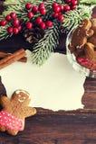 Coockies и украшение рождества человека пряника стоковое изображение