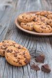 Coockies de puce de chocolat Photos libres de droits