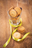 Coockies in glass Stock Photography