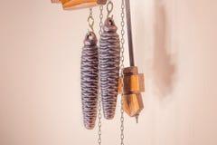 Coocoo zegarów ciężary z wahadłem Obraz Royalty Free