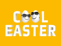 Cooel easter eggs Royalty Free Stock Image
