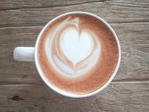 Coofee latte hart royalty-vrije stock foto