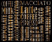 Cooffe background. Abstract sorts of coffee background vector illustration