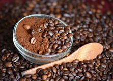 Cooffee beans. Coffee beans and coffee time Stock Image