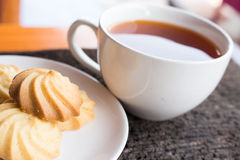 Cooffee-Bruch Stockfoto