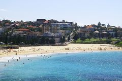 Coogee Beach. Sydney on a hot summer day Stock Photo