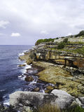 Coogee Beach Coastal Walk in Sydney, NSW, Australia. Bondi to Coogee Beach Coastal Walk with stunning views, beaches, parks, cliffs, bays and rock pools Royalty Free Stock Photography