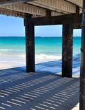 Coogee Beach Jetty: Shadows and Seascape royalty free stock image
