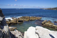 Coogee Beach rockpool, Sydney Royalty Free Stock Photography