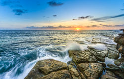 Coogee beach, Sydney Australia. Morning light at Coogee beach. One of popular beach in Sydney, Australia royalty free stock images