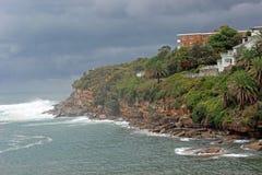 Coogee kust, Sydney, Australien Royaltyfri Bild