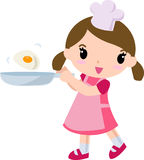 Cook. A cute cook girl -illustration art royalty free illustration
