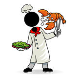 Cook. Cartoon action icon of people at work - a Stock Images