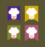 The Cook. 4 color versions of a cook vector vector illustration