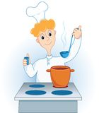 The cook. Prepares. Vector illustration Royalty Free Stock Images