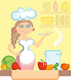 The cook royalty free illustration