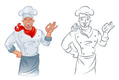 Cook. On a white background royalty free illustration