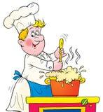 Cook stock illustration