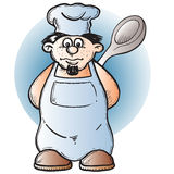 Cook. Illustration Stock Photography