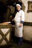 Cook. Portrait of a chef in uniform Stock Images