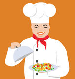 Cook. Vector illustration of a happy cook Stock Photography