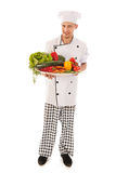Cook with assortment fresh vegetables Stock Images