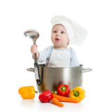 Cook baby with healthy food Stock Image