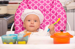Cook baby Royalty Free Stock Photos